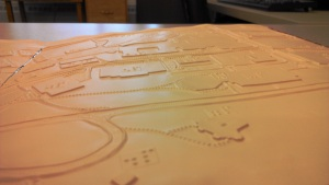 Braille map side view