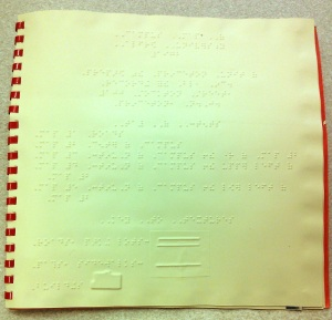 Braille map title page
