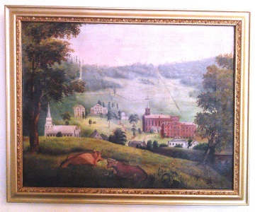 Sesquicentennial Book Oil Painting