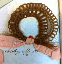 Hairwork album, close up